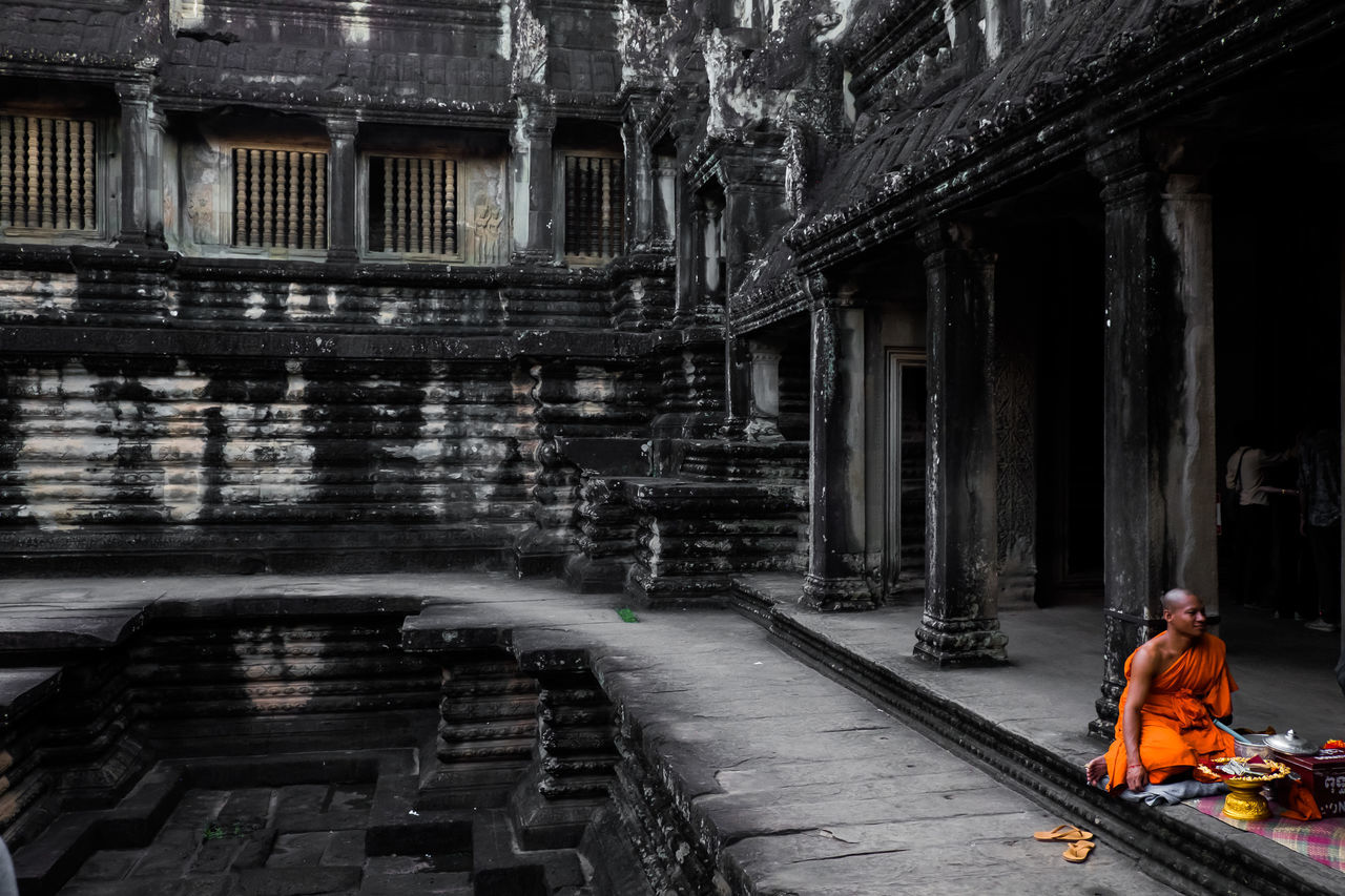 Angkor Wat Architecture Buddhism Built Structure Culture Culture And Tradition Cultures Day One Person Outdoors Real People Religion Spirituality Temple Travel Photography