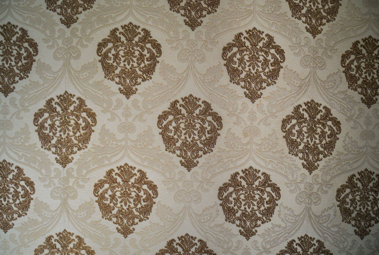 pattern, floral pattern, backgrounds, textile, elegance, no people, indoors, wallpaper, luxury, textured, full frame, day
