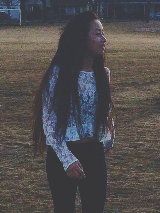 Shoutout to my friend for taking random pictures of me.HisdumbasssNicee was playing volleyball on a white shirt. Regret 😂😒