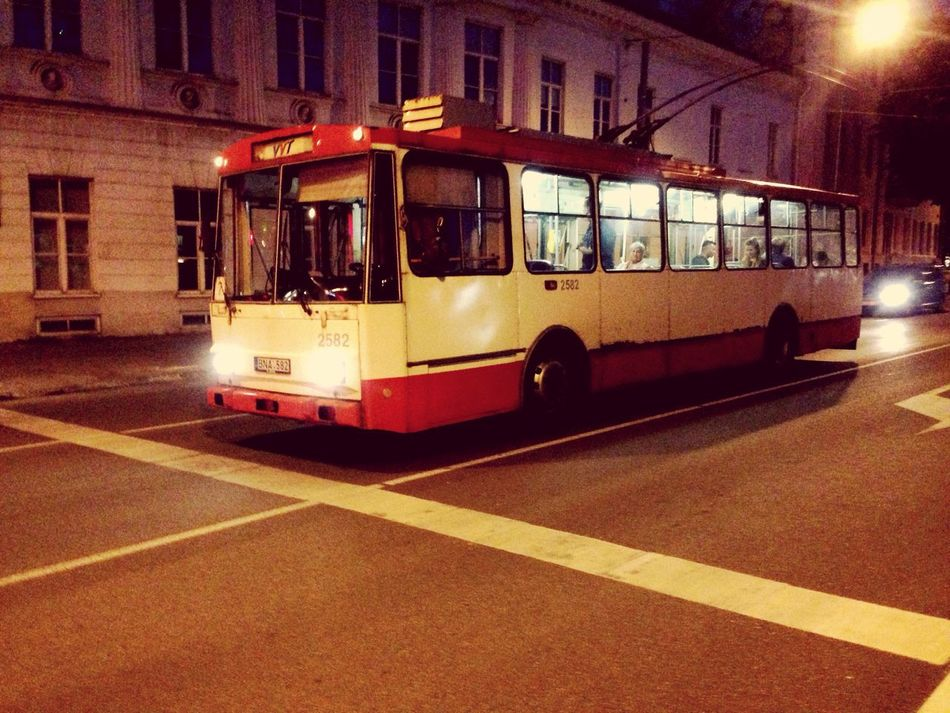 Vilnius Vilnius Old Town Trolley Bus Streetphotography IPhoneography Night Photography Lithuania