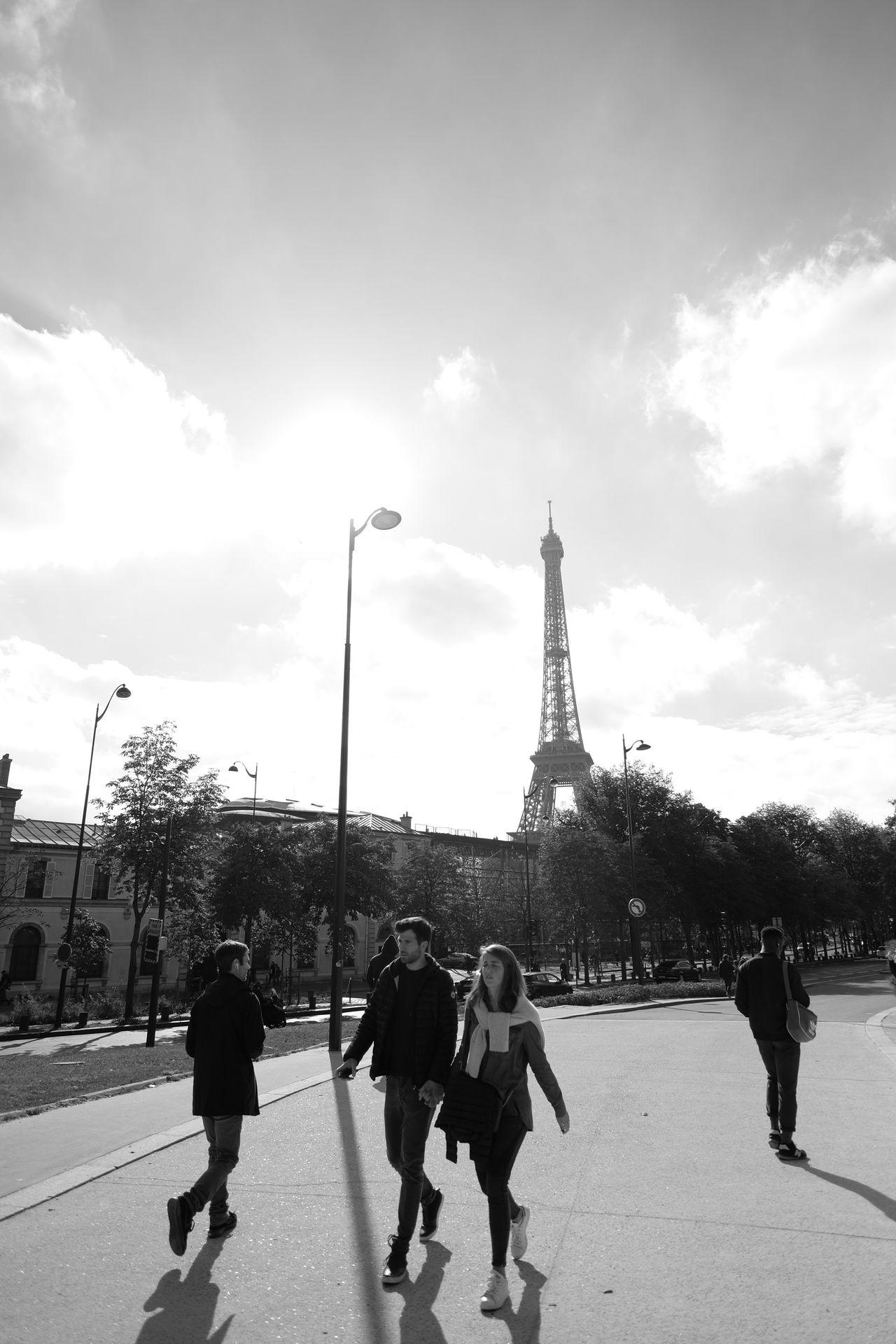 Paris Eiffel Tower Blackandwhite Architecture Street Photography Fuji X-T1