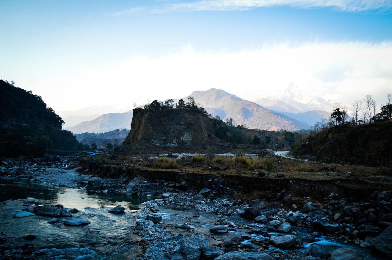 Beautiful stock photos of annapurna, landscape, blue, mountain, reflection