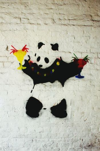 Panda Graffiti Urban Lifestyle Urbanphotography Great Wall Cocktails Check This Out