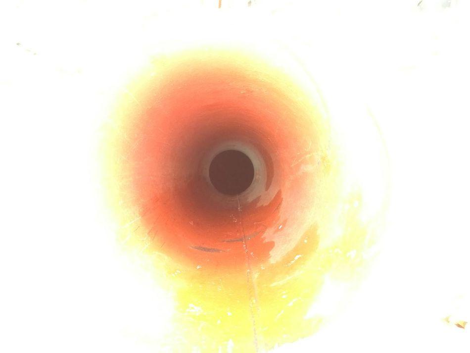 Maximum Closeness Insight Circle Overexposed Internal Light Welded Close-up Red Yellow White