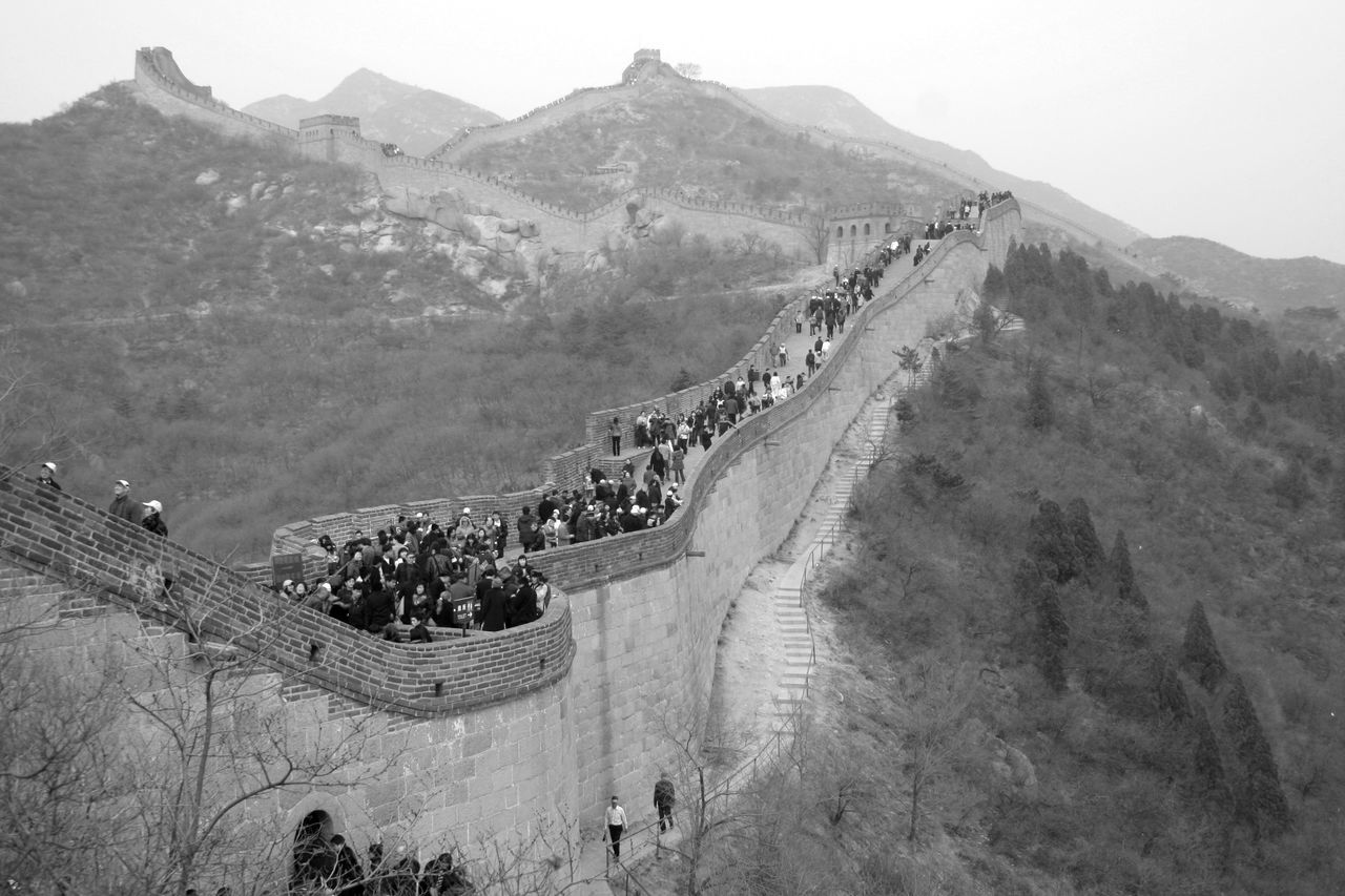 Great Wall of China Ancient Ancient Civilization Architecture Black & White Black And White Building Exterior Built Structure Cultures Day Fortress Great Wall Of China History Landscape Mountain Mountain Range Nature Outdoors Scenics Sky Steep Steps Travel Travel Destinations Winding Road