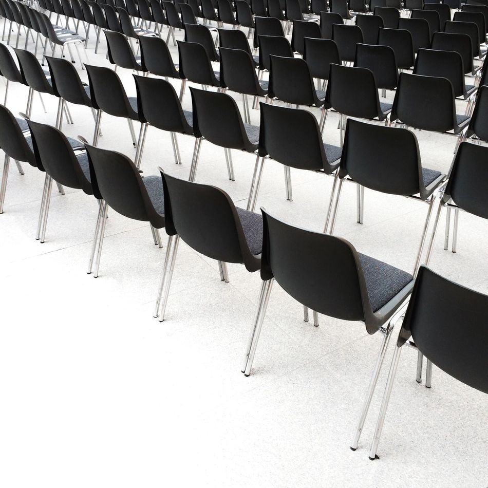 Beautiful stock photos of black, Abundance, Black, Chair, High Angle View