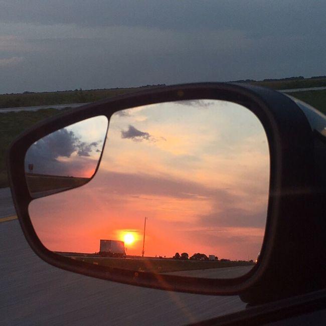 Rearviewmirror Sunset MeinAutomoment