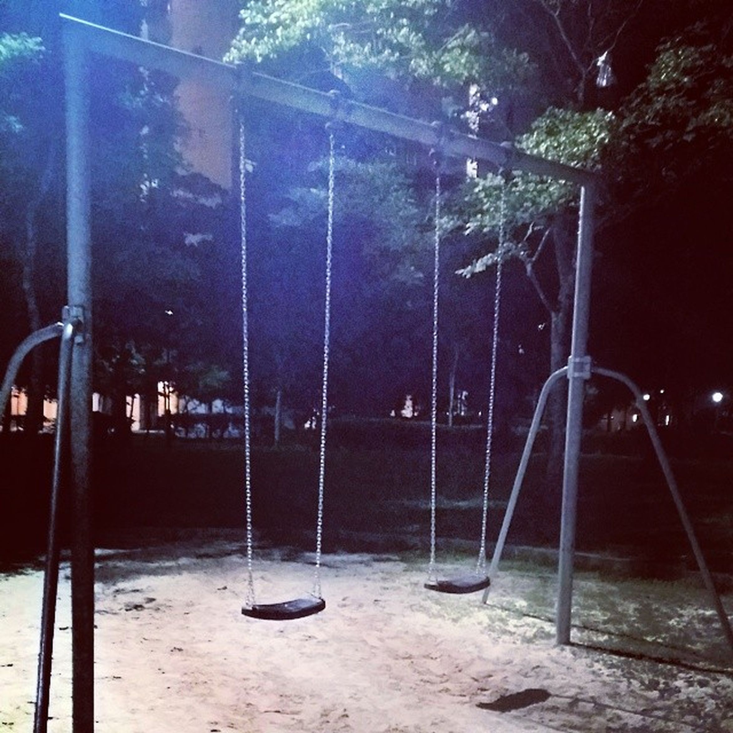 I found swings during my jog near home. HAPPINESS?
