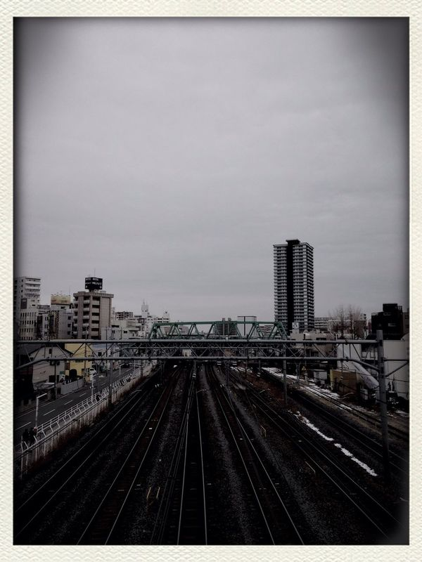 Cloudy Cold Days Railway Winter