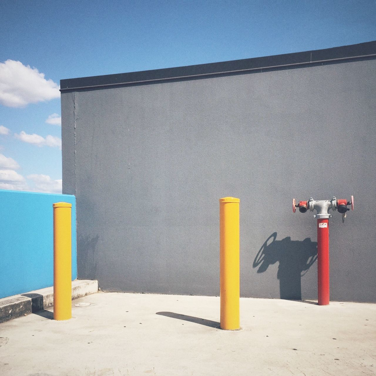 Yellow Blue Architecture Building Exterior In A Row Outdoors Group Of Objects Day Multi Colored Order No People Vibrant Color Medium Group Of Objects Streetphoto_color Minimalism