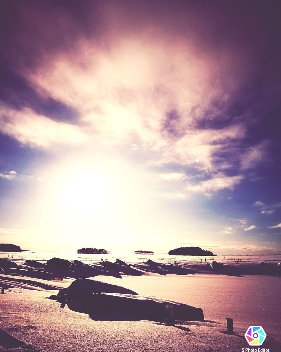 Dramatic Sky Outdoors Scenics No People Frozenlake Wintertime Sunny Winter Day