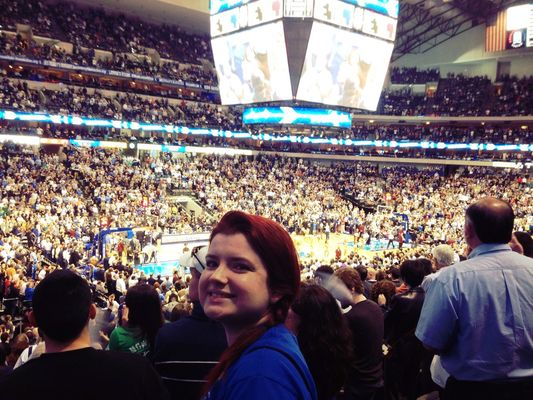 Dallas Mavericks Game at American Airlines Center by Brian