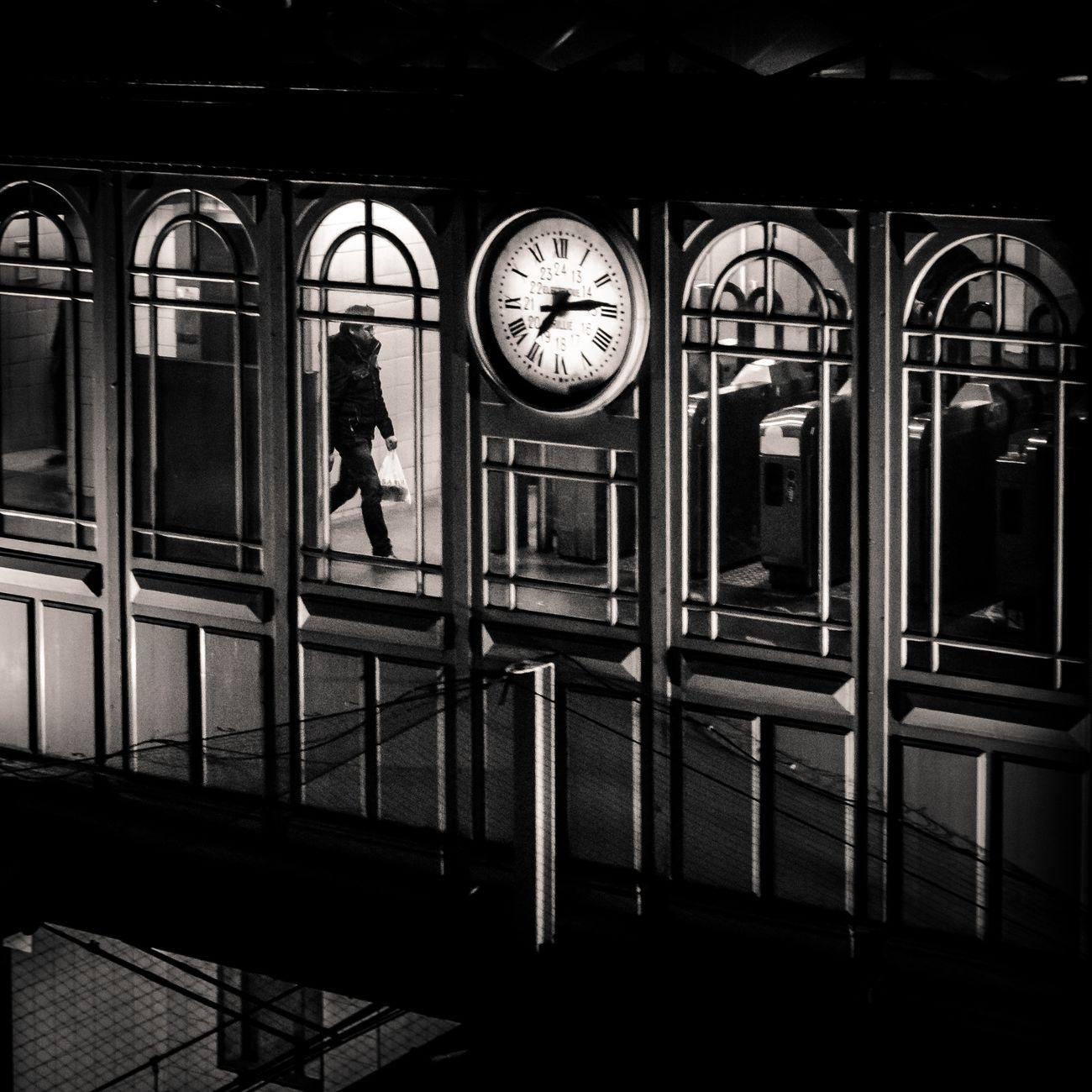 La Vie Chronometree Lokee Paris Clock Metro Streetphotography Night The Street Photographer - 2016 EyeEm Awards