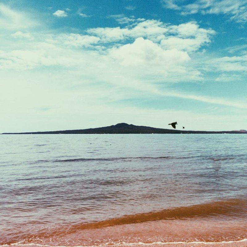 Rangitoto Island, from Mission Bay beach. Auckland Missionbay Vscocam