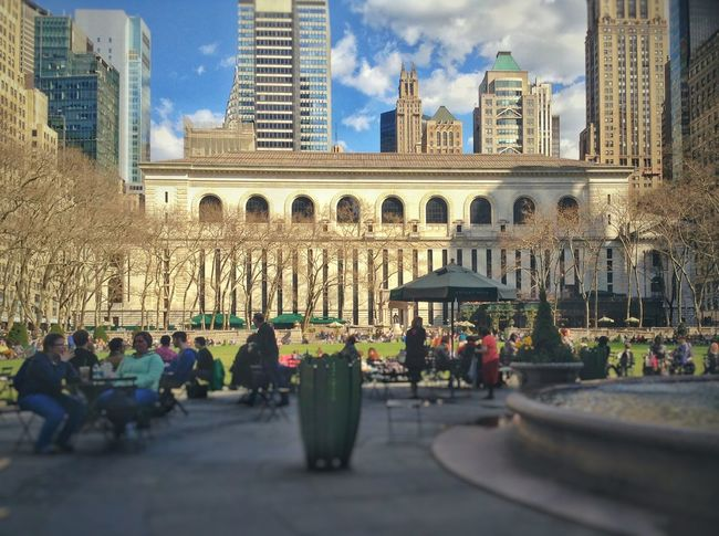 NYC NYC Photography Usa Trip 2013 Springtime Yeah Springtime! Showcase April Central Library Bryant Park  Enjoying Life Spring Sunny Day People New York City New York ❤ Park Rest & Relax Day