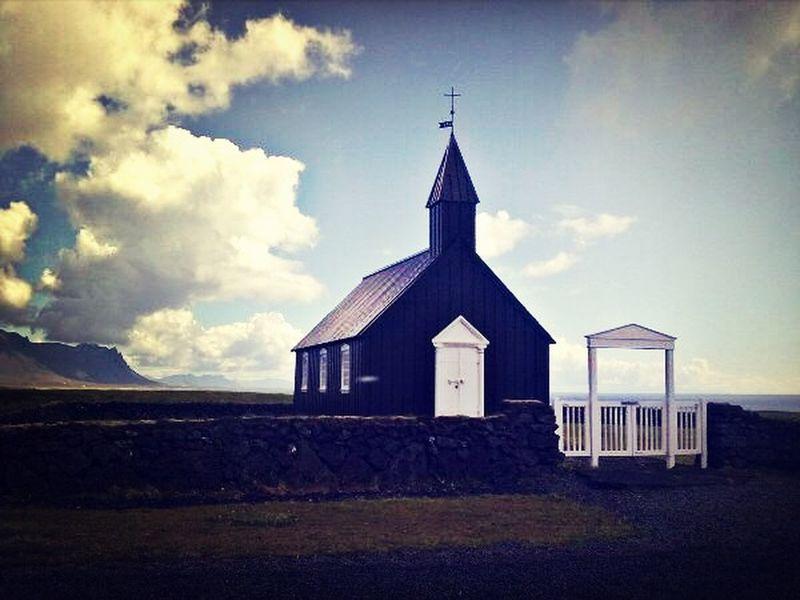 Old Church ( Búðakirkja ) at Snæfellsnes Iceland