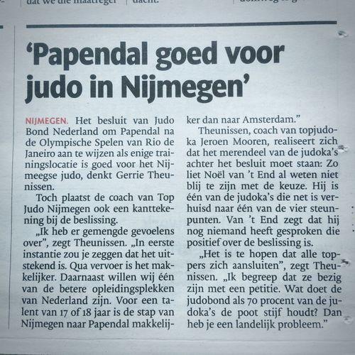 Judo Papendal Training Toekomst Landelijk Probleem