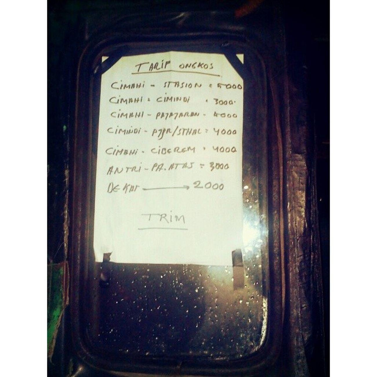 Perhatian kepada seluruh pelanggan angkot!!!! Talk less do more!!! Angkot Bandung Infobandung hihihi LOL