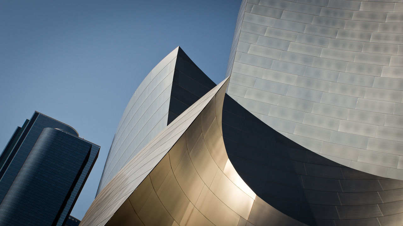 Architecture Architecture Building Exterior California Disney Music Hall Los Angeles, California Losangeles Low Angle View Modern No People Outdoors Shape