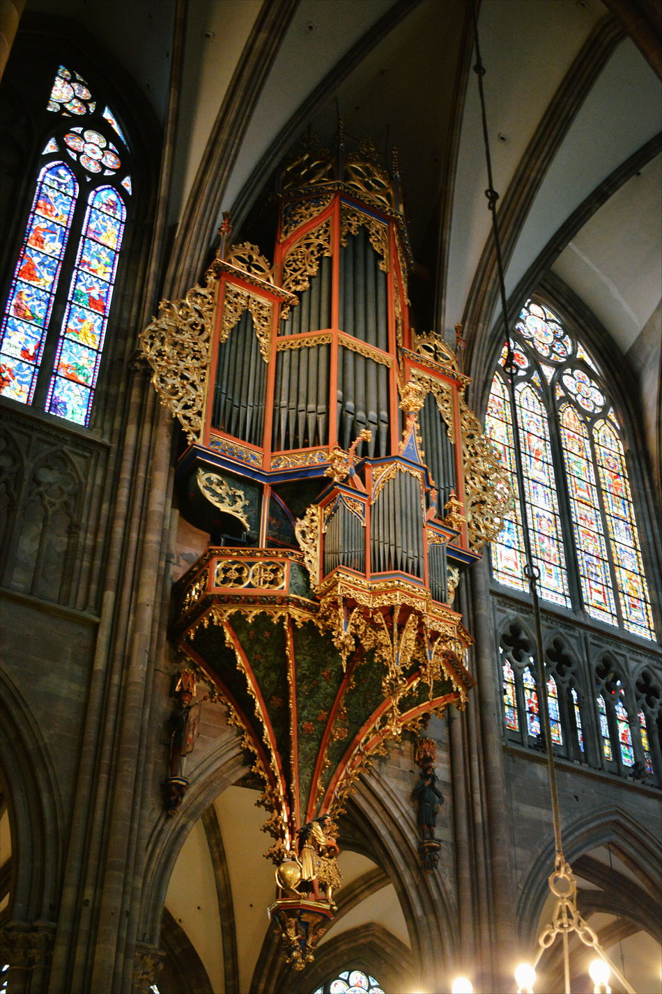 Architecture Cathedral Church Day History Indoors  Instrument Low Angle View Music No People Old Organ Ornate Place Of Worship Stained Glass Window Window Windows Art Is Everywhere