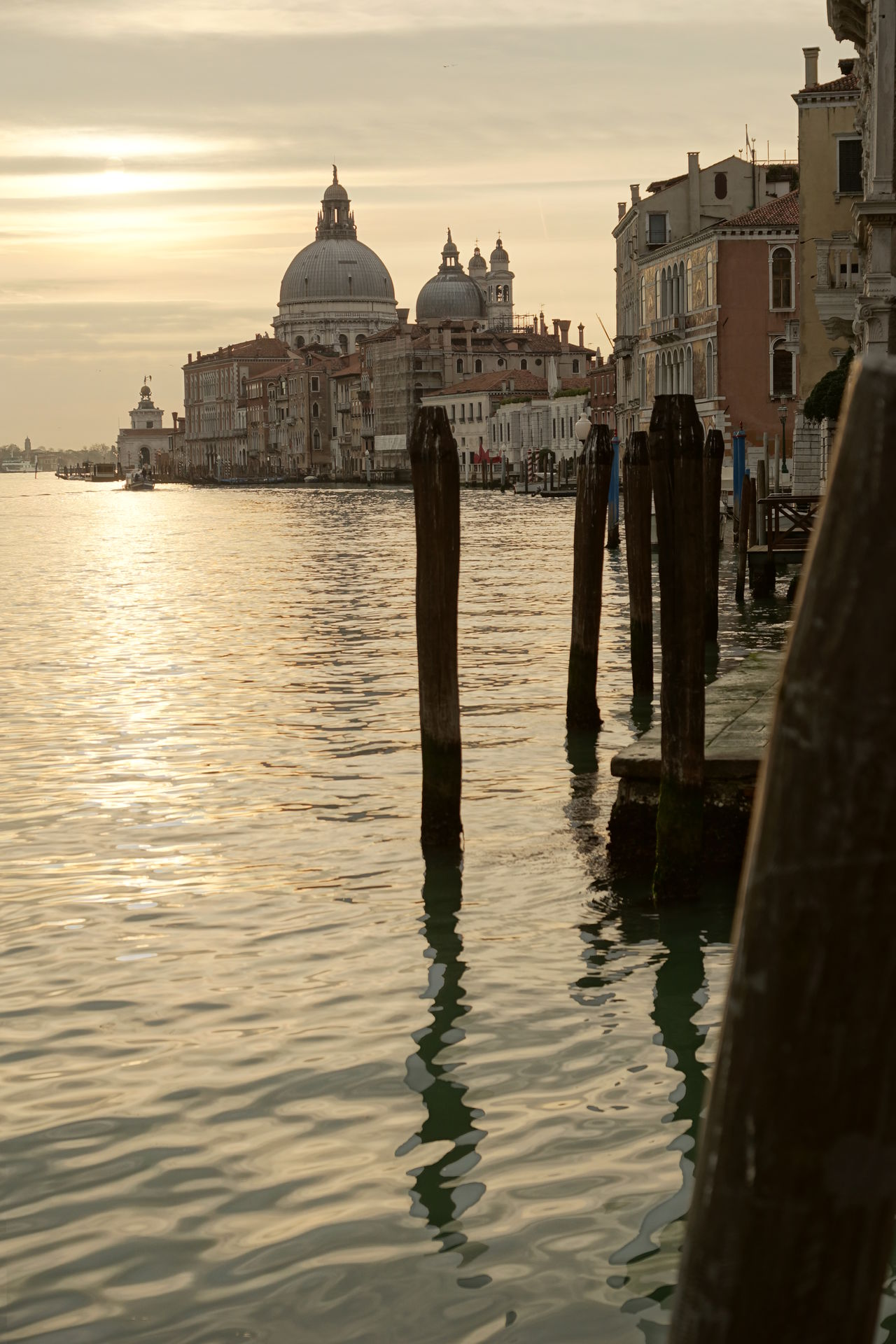 Santa Maria della Salute shortly after Sunrise Architecture Bell Tower Building Exterior Built Structure Canale Grande City Cloud - Sky Dawn Dome Italy Morning Light No People Outdoors Place Of Worship Religion Santa Maria Della Salute Sea Sky Spirituality Sunset Travel Desinations Travel Destinations Venice Water Waterfront