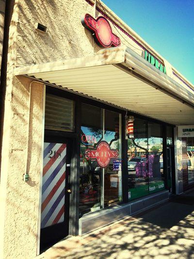 Best. Barber. Ever. So fresh and so clean. #mickeysmesa #barbershop #downtownmesa #dome #hechoenmesa