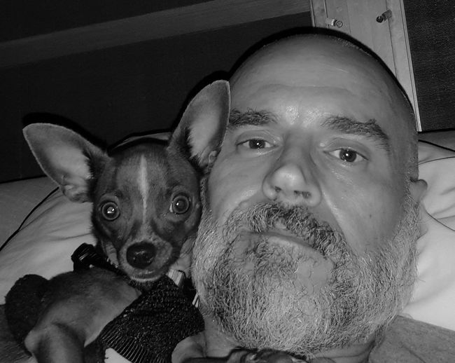 My Best Friend Poncho Kilo My Dogs Are Cooler Than Your Kids Chihuahua Lovers Chihuahua Lovers. Chihuahua Chihuahuas<3 Happy Dogs Hanging Out Casa De Albatross Fellsmere Florida Black And White