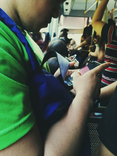 Vehicle Interior Sitting Passenger Travel Adults Only Transportation Journey People Adult Indoors  Men Real People Togetherness Close-up Crowd Young Adult Human Body Part Day Eyeem Philippines Mobile Conversations The Photojournalist - 2017 EyeEm Awards