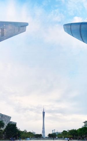 Canton Tower Full Angle Wide Shot Sky And Clouds Sky Lovers Three Points Cloud - Sky Architecture Cityscape Urban Exploregz The Graphic City Colour Your Horizn