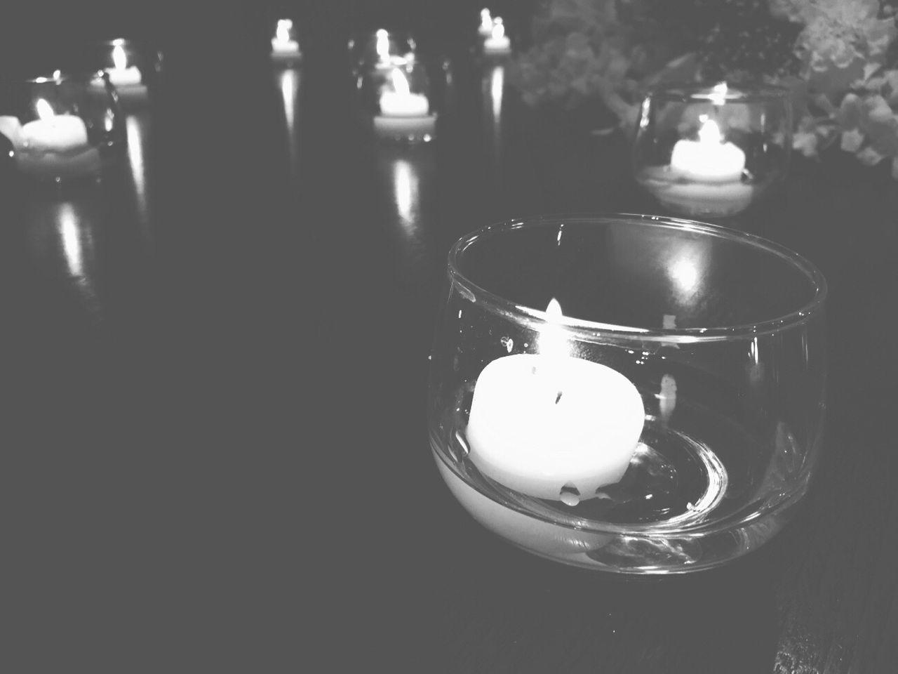 candle, flame, burning, heat - temperature, tea light, glowing, illuminated, close-up, indoors, no people, night, oil lamp