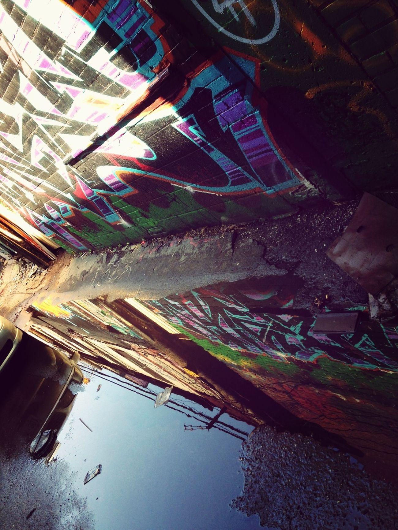 Graffitti Urban Reflections Water Reflections Admiring Art