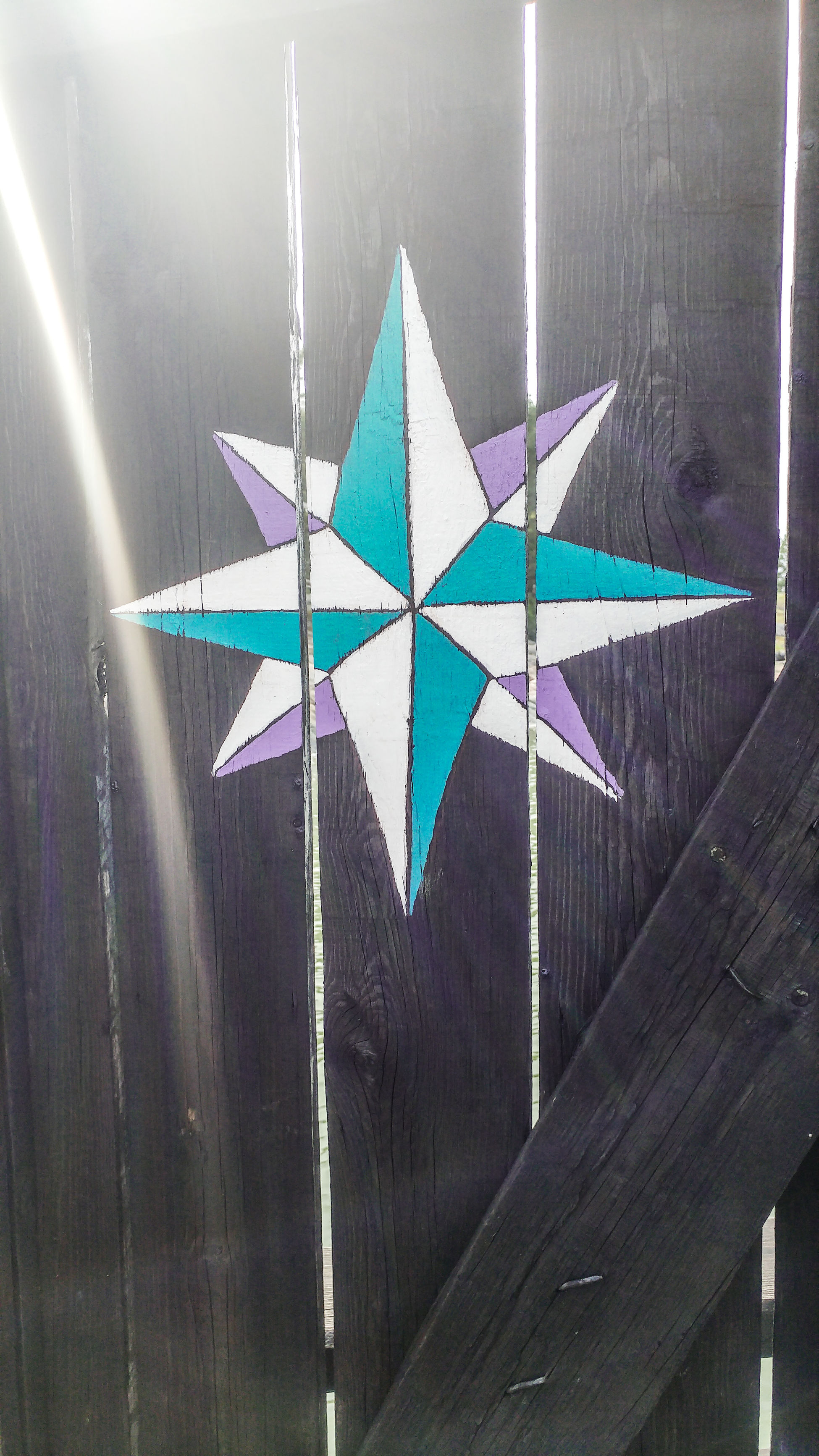 Creativity Multi Colored Star Shape No People Full Frame Moomin World Yfufinland Moomin Morning Scenery Turku Riverside Compass Door Paint Art Sunshine