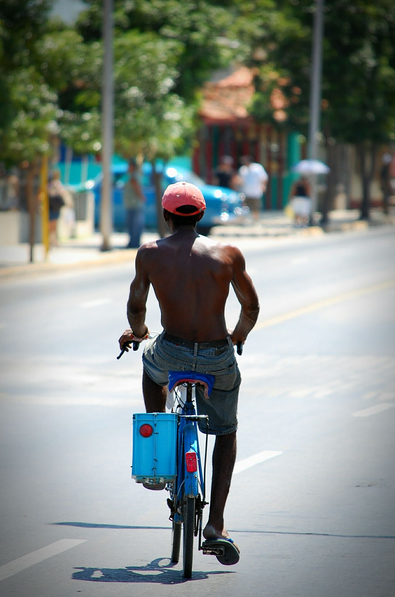 Beautiful stock photos of cuba, Bicycle, Day, Focus On Foreground, Full Length