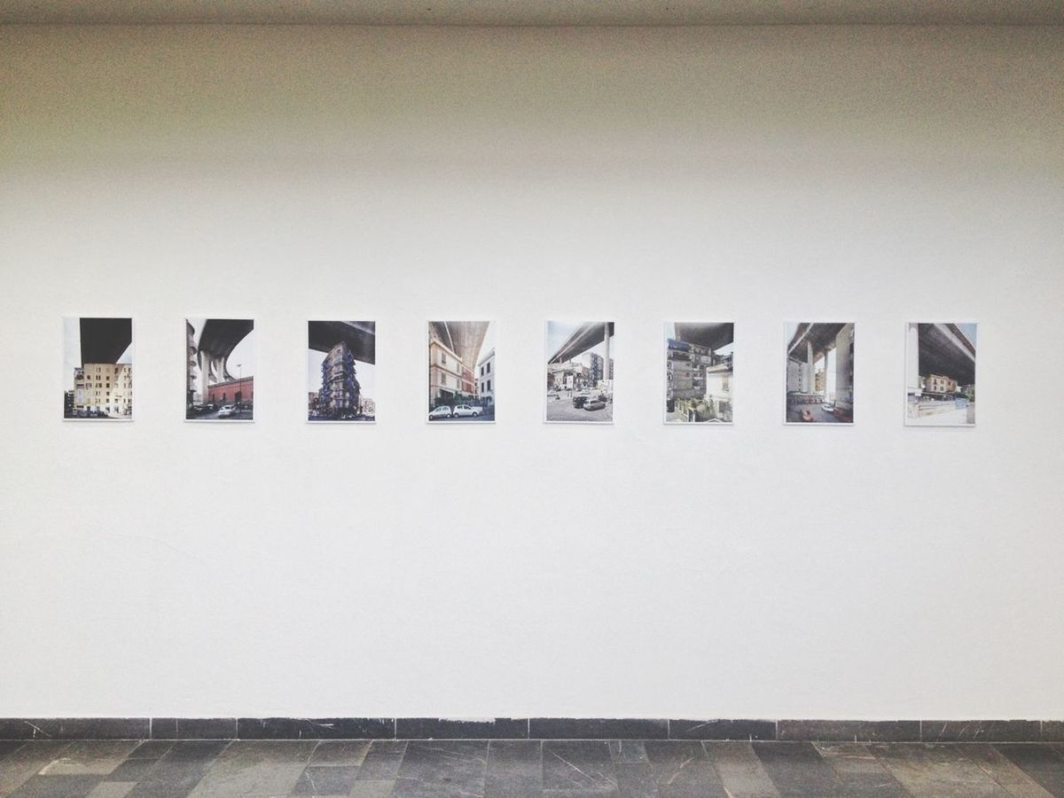 my very first exhibition! documentary work on the city highway of Napoli, Italy! Architecture Symmetry At An Exhibition Minimalobsession
