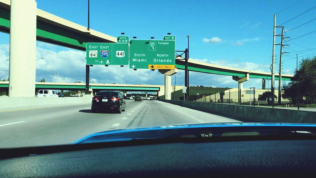 North to Orlando Highway Florida Turnpike 585