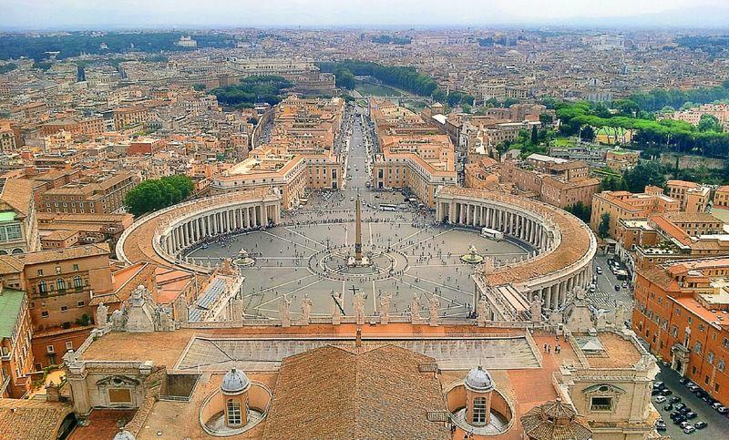 Rome Rome Italy Vatican At Basilica Di San Pietro In Vaticano San Pietro Landscape Vatican