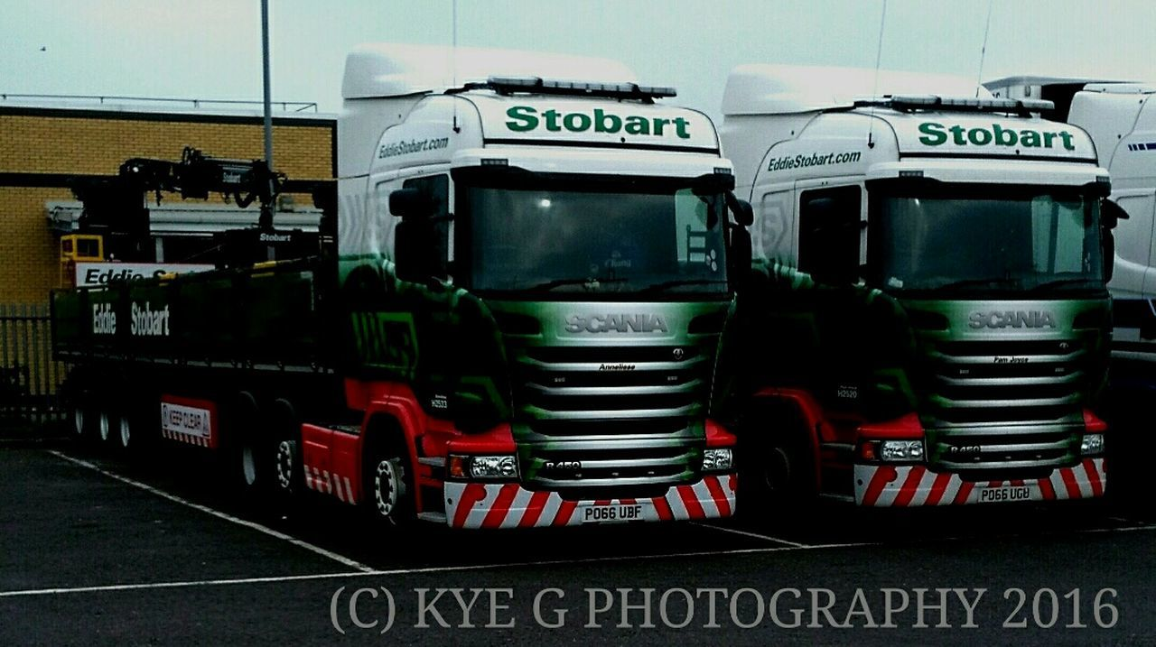 Eddie Stobart Scania Highline's at Swindon truckstop 2016 Swindon Swindon Truck Stop