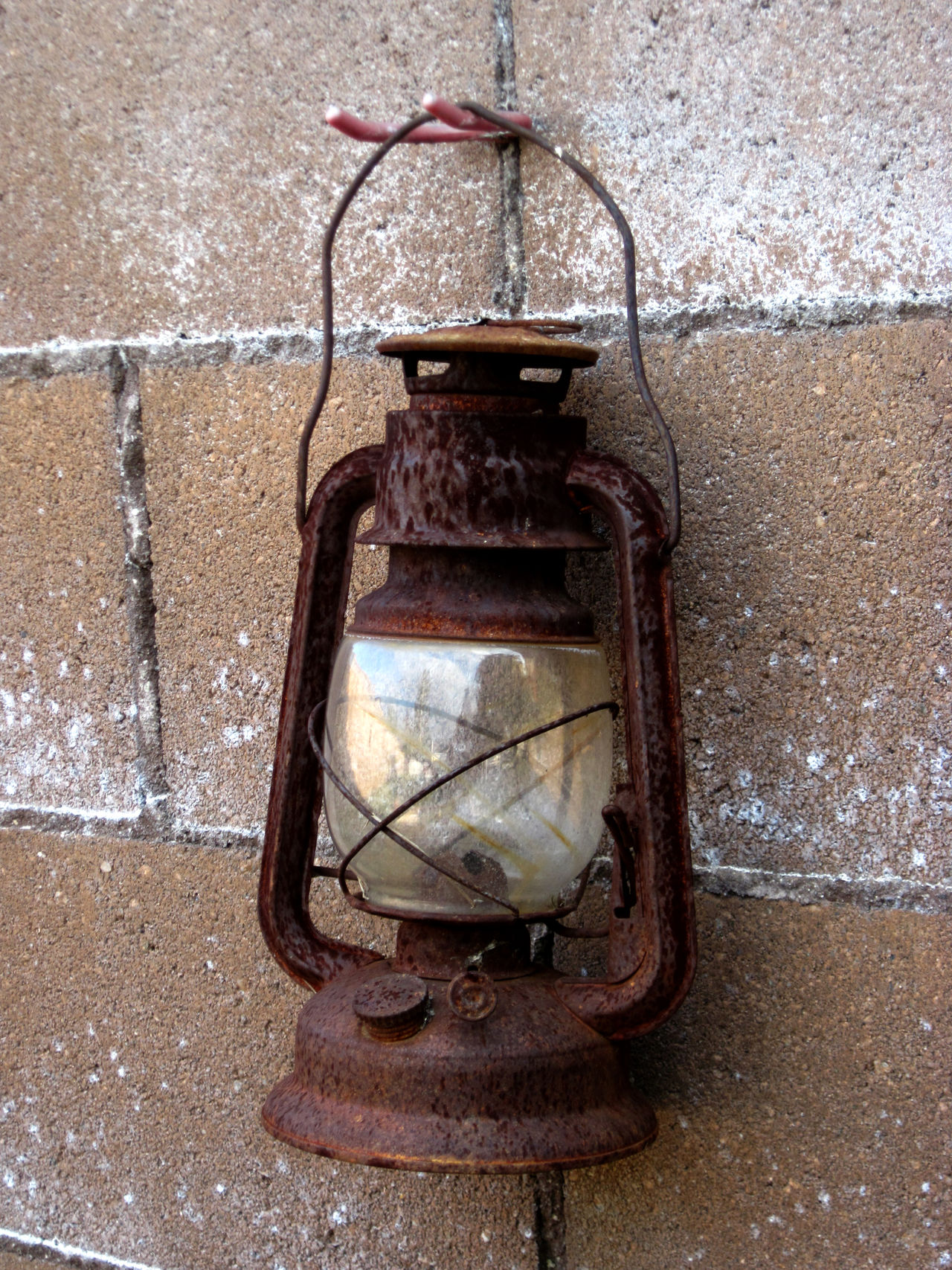 Brick Wall Close-up Day Focus On Foreground Hook Lantern No People Old Old-fashioned Rusty Lantern Still Life
