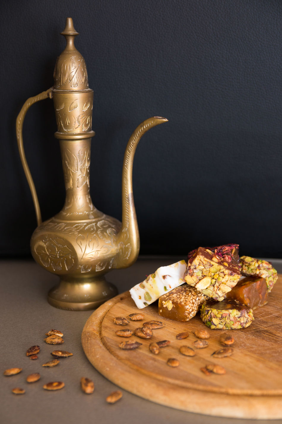 Antique Close-up Food Food And Drink Gold Gold Colored Indoors  Jug No People Sweet Tea Turkish Delight Turkish Sweets