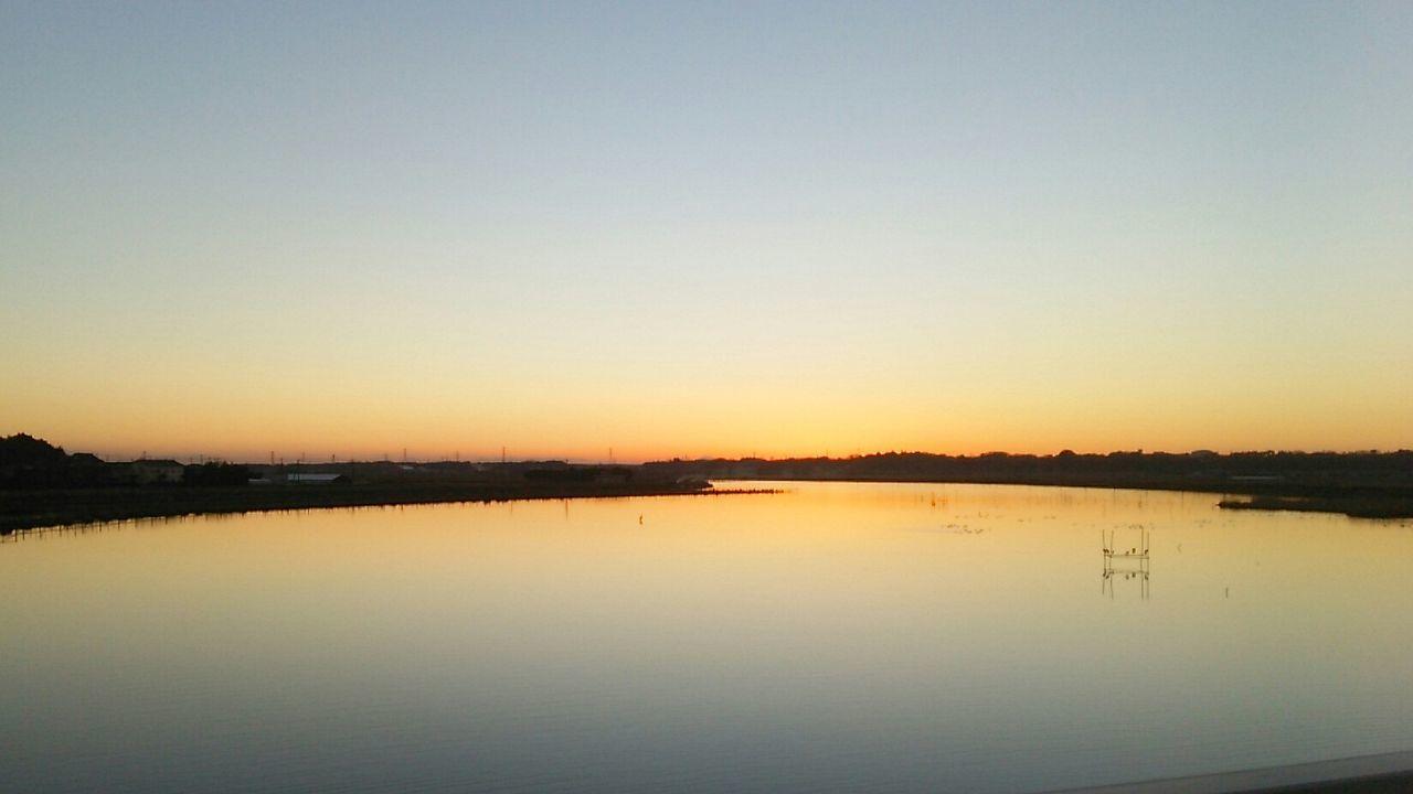 Sunset Reflection Beauty In Nature Water Sky Hanging Taking Photos Enjoying Life Skyscraper Hello World Nature 茨城県稲敷市 Japan