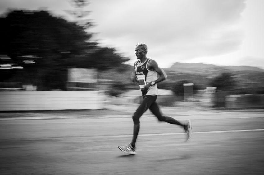 full steam ahead Blackandwhite Full Length Lifestyles Motion Blur Motion Capture Runners Running Speed Sport Two Oceans Marathon Photography In Motion