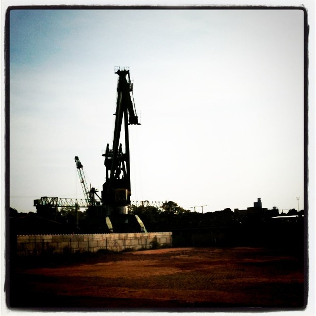 no people, day, industry, outdoors, clear sky, coal mine, sky, architecture, oil pump, oil well, drilling rig