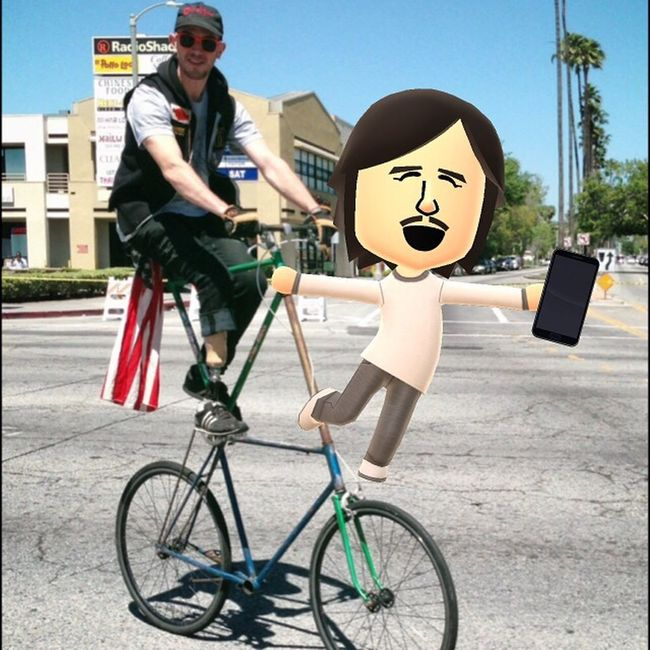 That's Me That's Mii Mii  MyMii Miitomo Nintendo Hitching A Ride Cruisin'