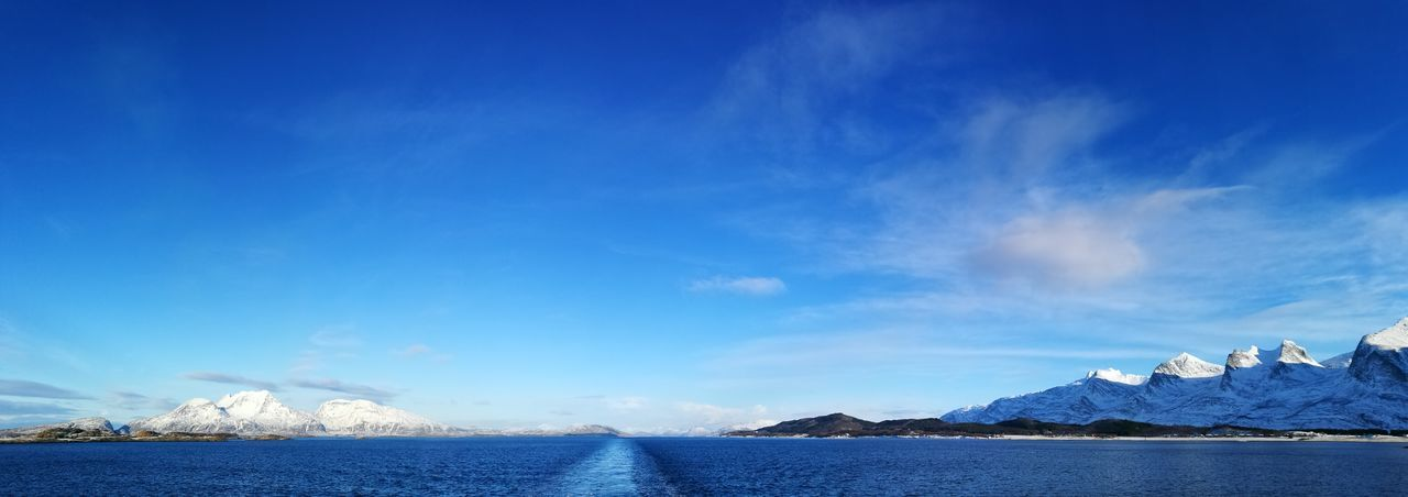 Hurtigruten Norway Winter Beauty In Nature Blue Cold Temperature Cruise Day Ice Mountain Nature No People Outdoors Scenics Sea Sky Snow Tranquility Water