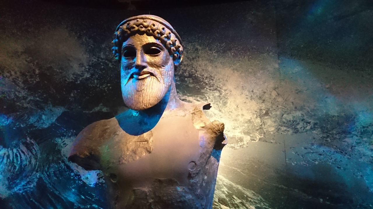 Poseidon - Ancient Antiquity Art Close-up Culture Deity Heritage Human Representation Museum Obscure Perfection Poseidon