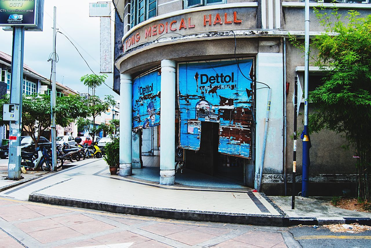 Architecture Building Exterior Store No People City Old Buildings Cracked Character Authentic Culture Georgetown Penang Malaysia Southeastasia Blue Fasade Asian  House Street Abandoned