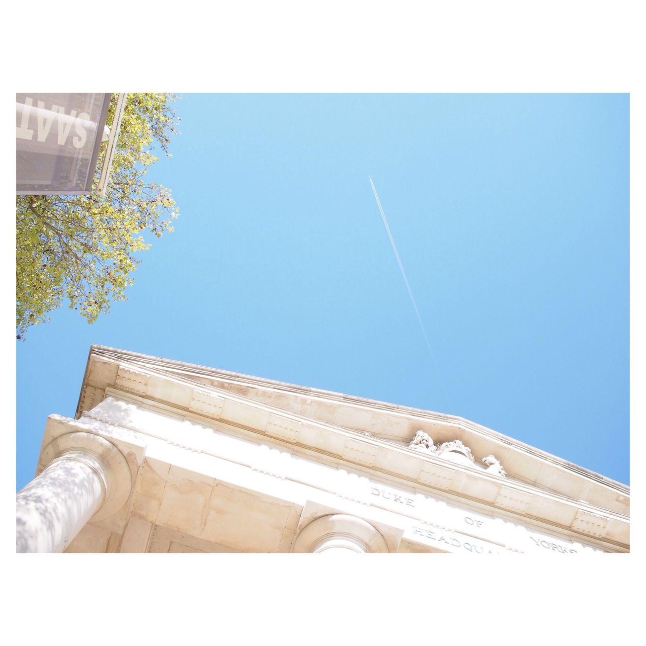 contrail Landscape London Saatchi Gallery Blue Sky