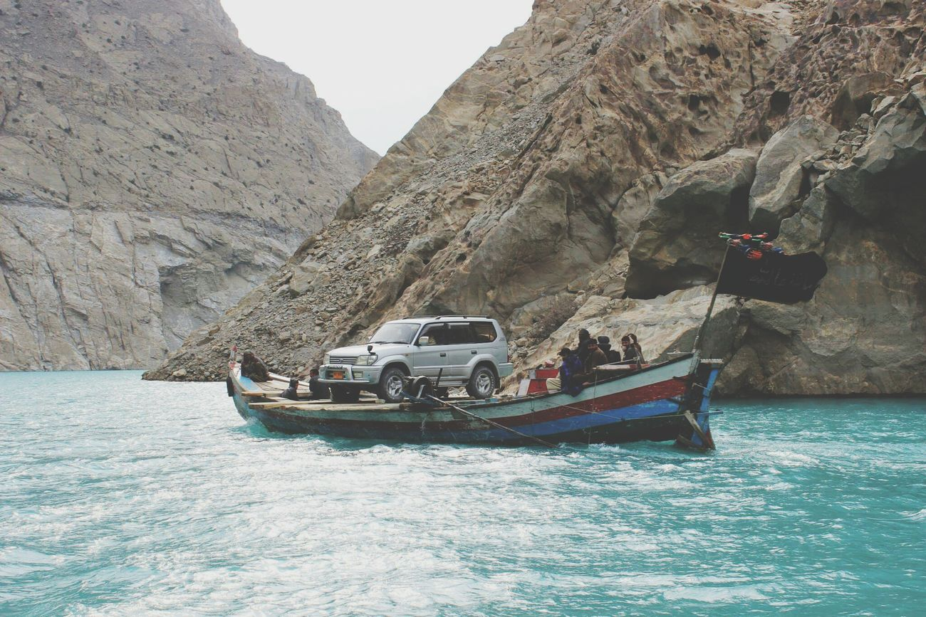 Attabad Lake, Hunza-Pakistan Beautiful Pakistan Beauty In Nature Lake Boatride Car Crossing Lake Love Thy Nature EyeEm Best Shots EyeEm Nature Lover EyeEm Gallery Travel Photography Traveldiaries Wanderlust River