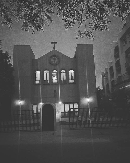 This place never ceases to amuse me. Church Delhi India Indiapictures Delhidiaries DelhiGram Sodelhi Catholic Patparganj Dfordelhi Eastdelhi WhenInDelhi Travelgram Wanderlust Night Nightphotography