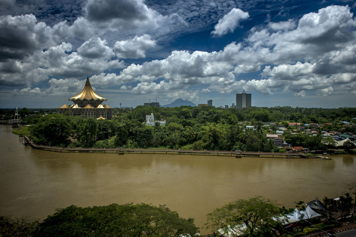 Cloud - Sky Cloudscape Kuching#borneo#sarawak Kuching_waterfront Nature No People Outdoors River Sky Tranquil Scene Travel Destinations Tree Water Waterfront Waterfrontview